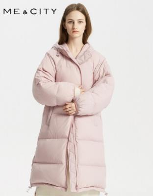 2018冬季新款长款连帽羽绒服
