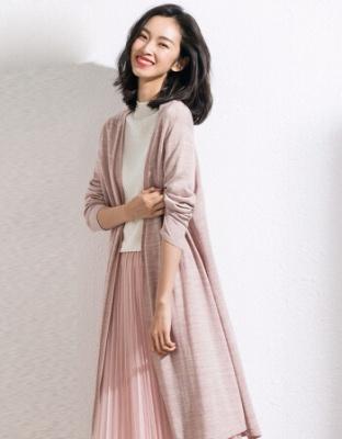 夏季新款女装轻奢中长款冰麻针织衫韩版超仙ins外搭空调衫外套轻奢主义韩版超仙冰麻针织开衫