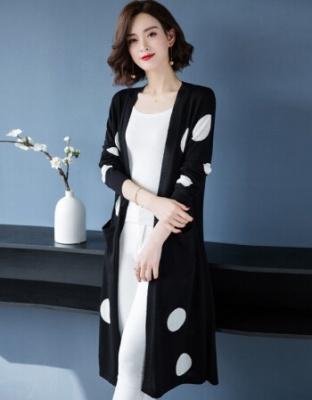 春夏新款宽松轻奢品牌针织开衫韩版女装中长款薄款外套上衣空调衫薄款外搭轻奢宽松针织开衫外套