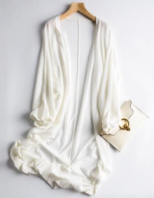 夏季宽松灯笼袖慵懒冰丝开衫夏装新款慵懒针织防晒衣开衫超仙披肩宽松灯笼袖空调衫