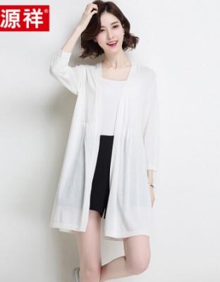 夏季新款冰丝针织开衫中长款外搭空调衫