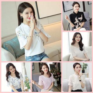夏装新款女装韩版纯棉显瘦短袖T恤