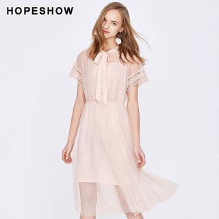 蕾丝连衣裙女红袖2019春夏款女装流行裙子波点网纱连衣裙