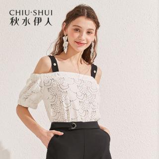 上衣2019夏装新款女装抹胸吊带一字肩蕾丝衫