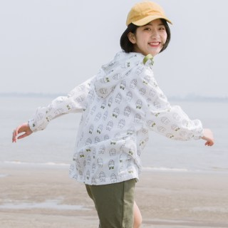 防晒衣宽松防晒服2018新款韩版bf薄款日式外套女学生夏季防晒衫
