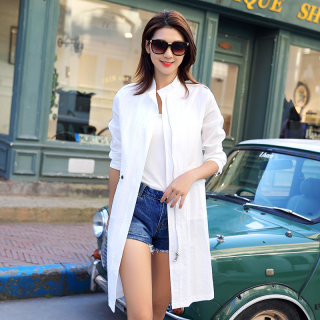 2019年夏季时尚潮流显瘦宽松中长款防晒衣薄外套