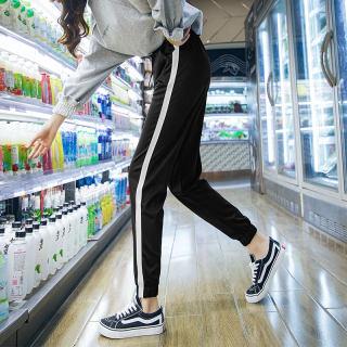 【宽松显瘦 百搭必备】运动裤女夏季宽松高腰休闲小脚萝卜嘻哈裤