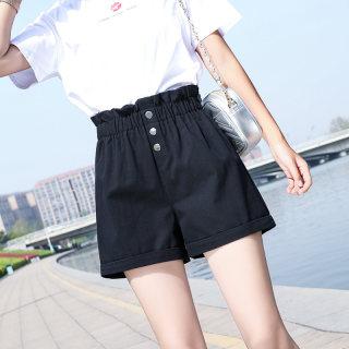 【纯棉面料 时尚百搭】纯棉阔腿裤女宽松休闲裤
