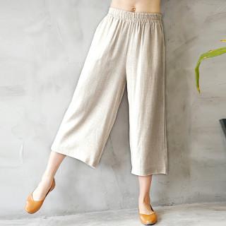 2019女款木耳边裤脚休闲裤