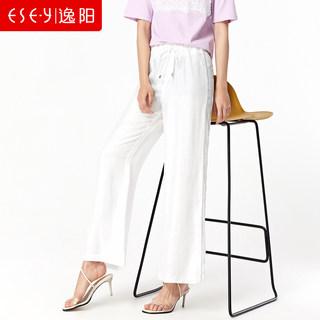2019夏季新款冰丝高腰垂感直筒裤女松紧腰显瘦天丝阔腿裤薄款