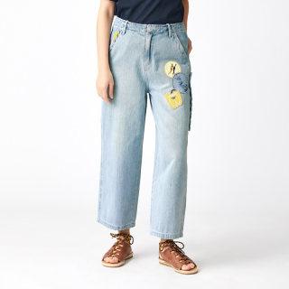 夏装新款趣味装饰物直筒裤