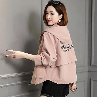 短款风衣女2019新款春秋季韩版宽松时尚中年小个子短外套女