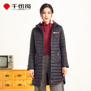 新品纯色中长款羽绒服女轻薄时尚立领韩版冬外套