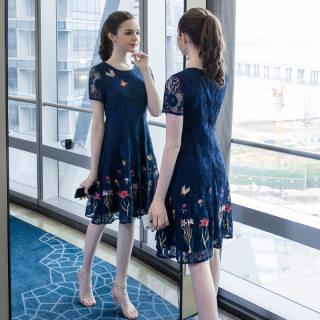 2019夏季新款欧美连衣裙大码高端气质适合胖女人穿的裙子