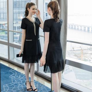 大码女装显瘦减龄适合200斤胖mm连衣裙2019夏装新款宽松裙子