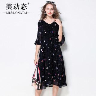 【个性时尚 优雅气质】大码女装新款夏装个性时尚连衣裙