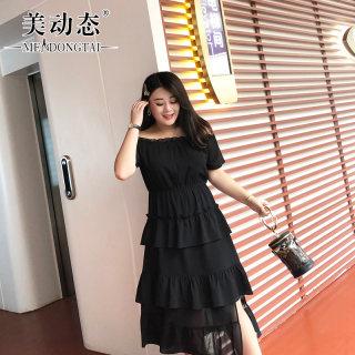 【不规则下摆 蛋糕裙】大码女装夏装法式桔梗裙连衣裙