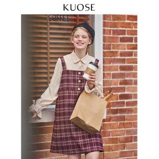 2019秋季韩版新款女学生格子俏皮套裙两件套减龄时尚套装