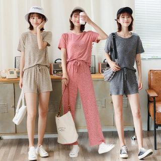 【3件套 换装穿】女韩版舒适圆领短袖三件套