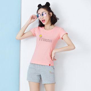【短裤T恤两件套】米子旗运动服套装女夏短袖短裤两件套