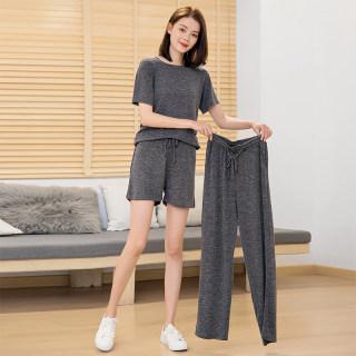 【柔软面料 舒适亲肤】三件套家居休闲短裤长裤短袖