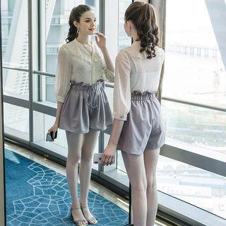 2019秋季新款大码女装200斤胖妹妹时尚遮肚显瘦减龄休闲套装