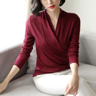 新款时尚羊毛针织打底毛衣女2018新款秋冬纯色黑色修身打底T恤