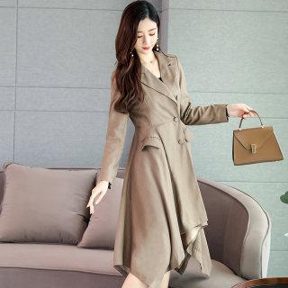 新款秋冬女装风衣女中长款2019韩版修身春秋气质时尚洋气女士大衣休闲薄款外套