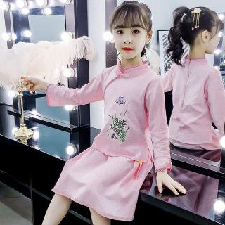 女童汉服中国风古装套装裙子中大儿童2019夏装公主宝宝唐装两件套