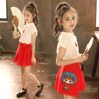 童汉服夏装中国风儿童装古装超仙改良唐装小女孩夏季古风套装裙