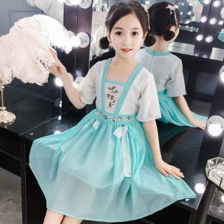 女童汉服中国风古装连衣裙夏儿童超仙襦裙儿童唐装演出服