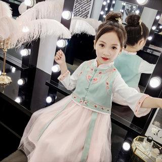 女童汉服春秋中国风超仙裙子女孩长袖宝宝秋装古装小孩儿童唐装