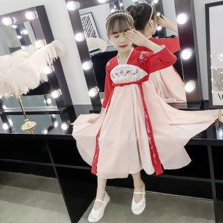女童汉服襦裙儿童改良汉服中国风童装女孩古装儿童仙女公主连衣裙