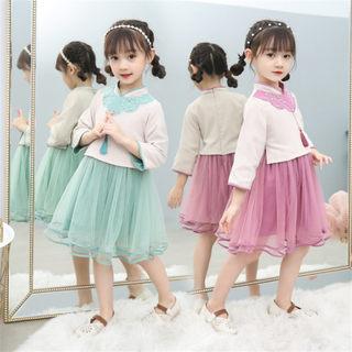 女童秋装汉服改良版2019新款韩版中大童女孩子春秋季休闲唐装时髦洋气
