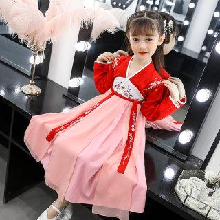 2019年秋冬新款儿童汉服齐胸襦裙中国风古装连衣裙
