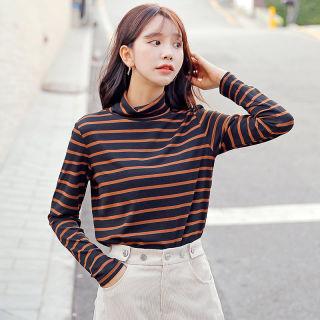 女装秋装2019秋装新款女装韩版高领宽松上衣潮长袖T恤