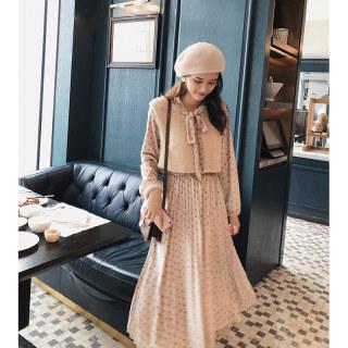 秋装新款女装法式连衣裙女秋冬装2018新款韩版晚秋套装两件套冬裙子洋气潮