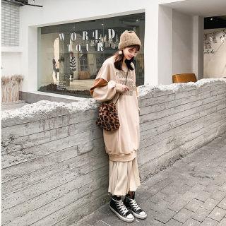 秋装新款女装休闲时尚连衣裙女秋装2019新款韩版宽松学院风长袖中长裙子