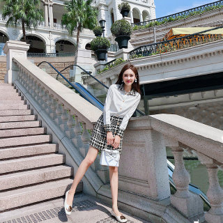 穿衣打扮新款潮流2019新款秋装气质女神范御姐套装裙洋气韩版时尚小香风衬衫两件套裙女