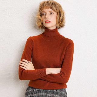 秋装新款针织加厚两翻领高领毛衣女短款套头长袖针织衫毛线衣秋冬季新款打底