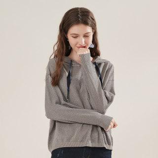 穿衣打扮秋冬装新款卫衣2019秋装新款女装纯色ins针织连帽长袖毛衫