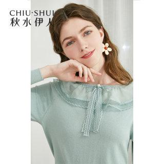 针织衫2019初秋新款女装长袖薄款设计感小众毛衣上衣