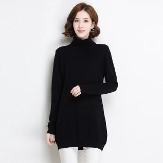 新款休闲羊毛衫女宽松韩版自由领套头秋冬款针织打底毛衣
