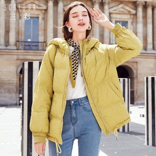 韩版新款2019冬季新款韩版棉袄宽松面包服短棉服棉衣潮外套女