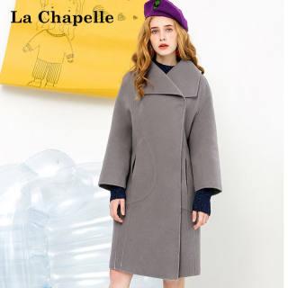 双面呢大衣女赫本流行春装韩版茧型oversize中长款卡其色毛呢外套