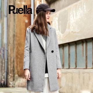 韩版新款冬季女装新款韩版羊毛呢大衣女中长款外套女风衣
