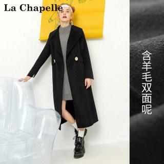 韩版新款韩版新款双面呢大衣女学生中长款过膝毛呢子外套女