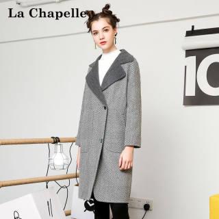 韩版新款冬季女装新款韩版过膝显瘦翻领中长款呢大衣女