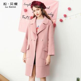 韩版新款冬款韩版学生双面呢大衣外套女中长羊毛呢子外套女