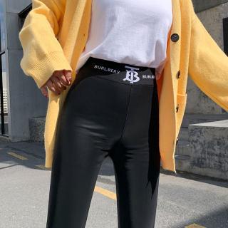 加绒皮裤女裤外穿加厚秋冬季2019年秋季新款高腰弹力小脚保暖长裤